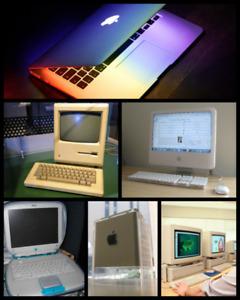WANTED apple macintosh computers laptop's