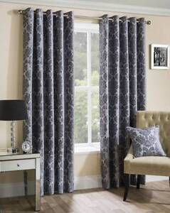 New Eyelet Curtains Grey Chatswood Willoughby Area Preview
