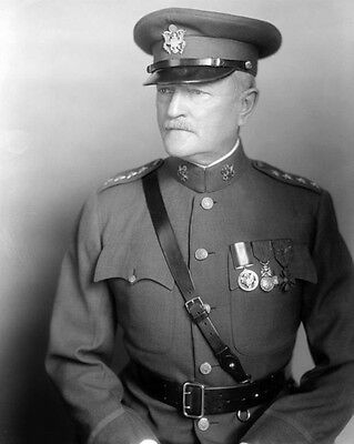 US Army General JOHN PERSHING Glossy 8x10 Photo Portrait Print Poster
