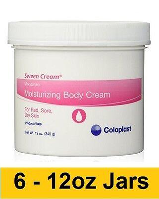 Sween Cream Jar - Coloplast Sween 12oz Cream Moisturizing Scented Body Cream Jar 7069 Lot of 6!