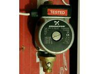 Grundfos central heating water pump