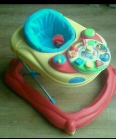Baby walker with activity centre