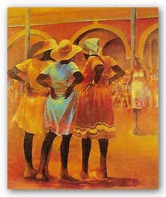 AFRICAN AMERICAN ART PRINT Listen to the Hipbones Paul Goodnight