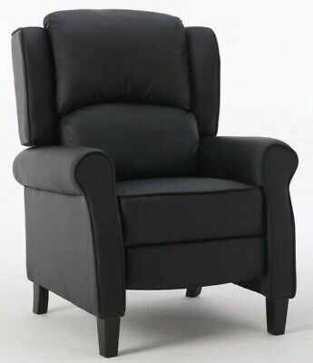 Modern Leather Recliner Armchair Upholstered Sofa Lounge Chair Home Cinema Seat