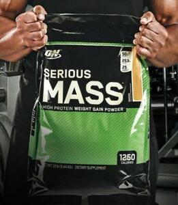 ON SERIOUS MASS 12LBS - WEIGHT GAINER - PROTEINE GAIN DE MASSE -  OPTIMUM NUTRITION
