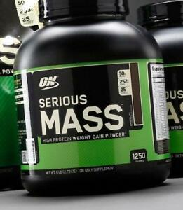 OPTIMUM NUTRITION ON SERIOUS MASS 6 LBS - WEIGHT GAINER - PRENEUR DE MASSE