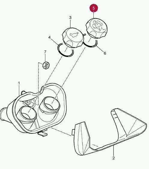 Porsche 987 Boxster Cayman Coolant Cap Lid