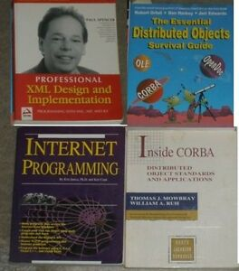 4 Computer Programming books, XML, distributed objects