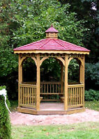 Octagon 8 feet Screened Gazebo