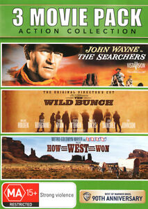 How the West Was Won / The Searchers / The Wild Bunch  - DVD - NEW Region 4