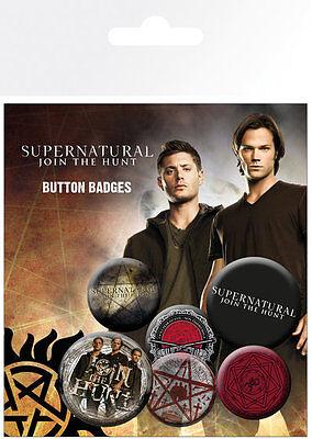 Supernatural Saving People Badge Pack / Pin Set BRAND NEW