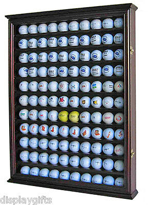 110 Golf Ball Display Case Holder Wall Cabinet, UV Protection door, GB05-CH