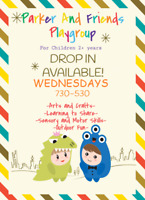 Wednesday Drop in/ Part Time spot Available in playgroup West K