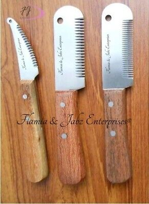 Stripping knifes for terriers dog carding comb pet comb rakes fox cat (Stripping Comb)