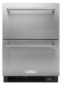 KITCHENAID NEW KUDF204ESB 4.7 CU FT., 1 REFRIGERATOR DRAWER,1 FREEZER DRAWER,STAINLESS STEEL INTERIOR (BD-1601)