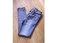 Mens River Island grey skinny stretch jeans 32 waist. Regular leg l-- like new -- can deliver