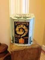 litho-graph tea tin liptons