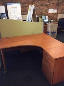 Oak colour desks with drawers - Qty x 8 Pyrmont Inner Sydney Preview