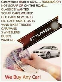 All your unwanted and scrap cars wanted