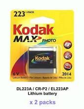 Kodak 223 lithium batteries [two packs] 6V *New & Sealed* Sydney City Inner Sydney Preview