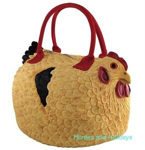 FREE US SHIP Rubber CHICKEN PURSE Handbag/Tote Bag Rooster Hen HENBAG Pocketbook
