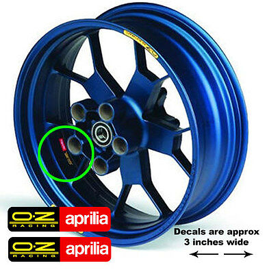 oz aprilia center rim decals fits rsvr and tuono rims