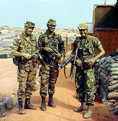 Vietnam War U.S. Army Rangers Prep Patrol Mekong Delta Old Grain 8.5x11 Photo