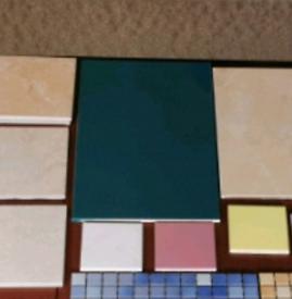 Ceramic, mosaic tiles
