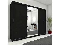 🌷💚🌷 FREE AND FAST DELIVERY 🌷💚🌷 NEW BERLIN GERMAN 2 DOOR SLIDING WARDROBE WITH FULLY MIRRORED