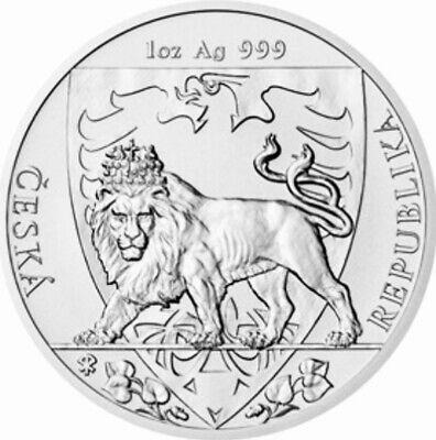 2020 NIUE 1 OZ SILVER CZECH REPUBLIC LION BU COIN Free Capsule & Pouch Pre Sale