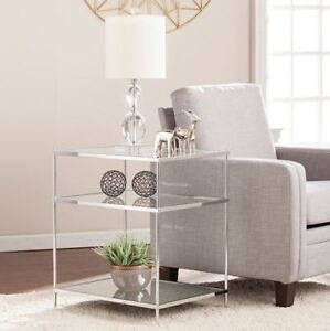 New in the box Southern Enterprise Glass end table for sale!!!!!