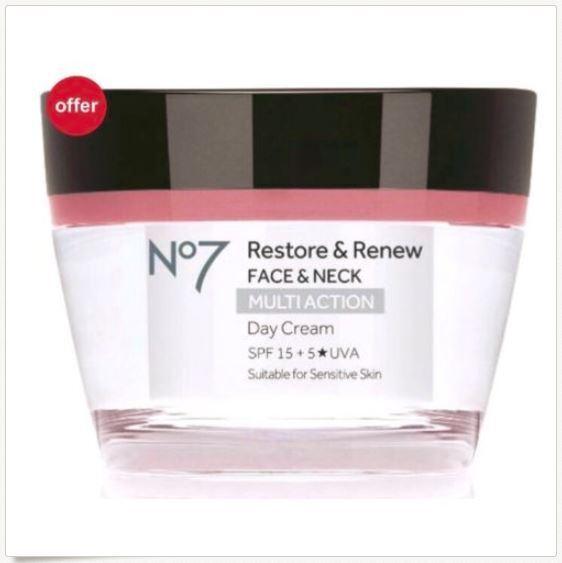 No7 Restore & Renew FACE & NECK MULTI ACTION Day & Nigh Crea