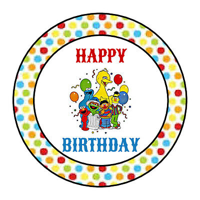 24 PERSONALIZED SESAME STREET HAPPY BIRTHDAY PARTY FAVOR LABELS STICKERS 1.67](Sesame Street Happy Birthday)