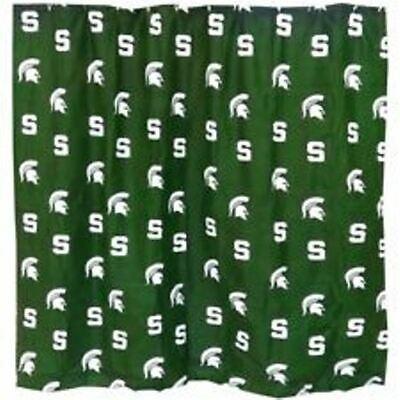 NEW Michigan State University Spartans Cotton Sateen Shower Curtain ()