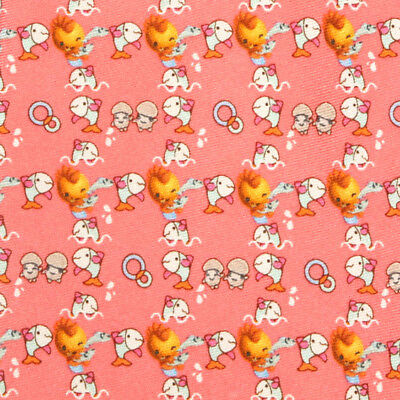 SALVATORE FERRAGAMO Pink Animee Dancing Mushrooms Fish Bird Men