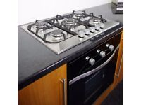 Cooke & Lewis CLGH1SS-C 5 Burner Cast Iron & Stainless Steel Hob