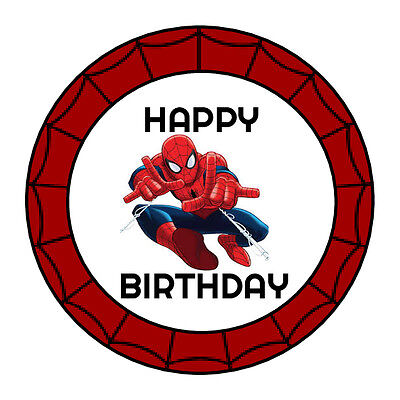 24 PERSONALIZED SPIDERMAN HAPPY BIRTHDAY PARTY FAVOR LABELS STICKERS - Happy Birthday Spiderman