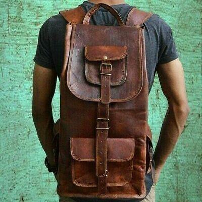 Laptop Vintage Shoulder Travel Bag Leather Handmade jumbo Backpack Bag Rucksack