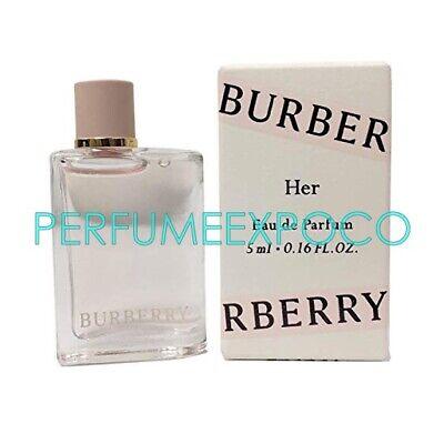 BURBERRY HER Perfume For Women 5ml-0.16oz EDP Splash MINI TRAVEL SAMPLE (C26