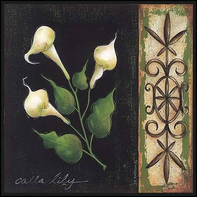 Art Print, Framed or Plaque by Jill Ankrom - Calla Lily - JIL79-R