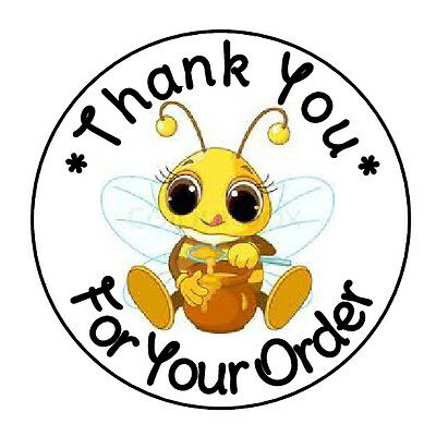 24 Personalized Thank You Honey Bee Favor Labels Round Stickers 1 67