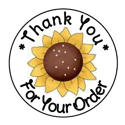 24 PERSONALIZED FALL SUNFLOWER THANK YOU FAVOR LABELS ROUND STICKERS 1.67