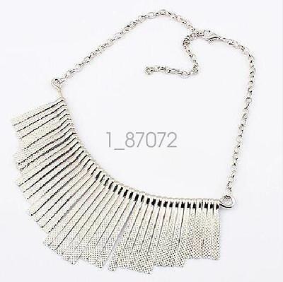 Party Bib - Fashion Women Tassel Choker Bib Statement Chunky Party Gift Collar Necklace