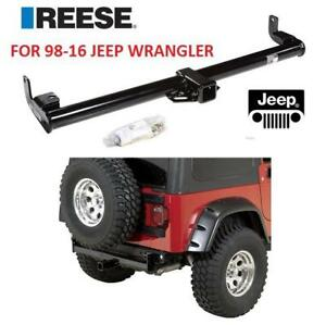 "NEW REESE TOWPOWER CLASS III HITCH 51145 229866653 2"" ROUND TUBE RECEIVER 98-16 JEEP WRANGLER"