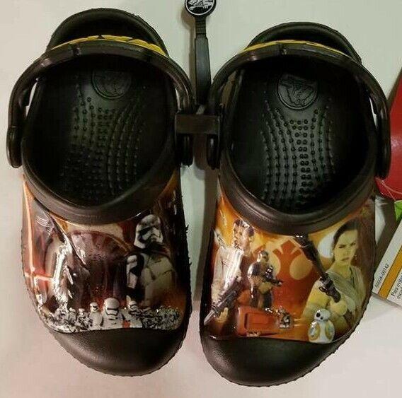 Kids Boys Crocs Star Wars Clog K Black Size US C 8/9 Shoes NWT