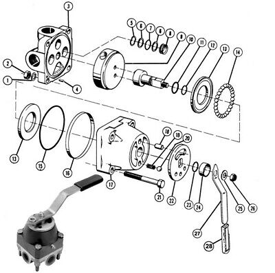 1330-0199 Repair Kit For Hydraulic Control Valve 4-way 2-way Shear Type Seal