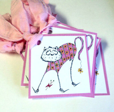 Tags gift Thank You Flowers 6 Pieces Kitty