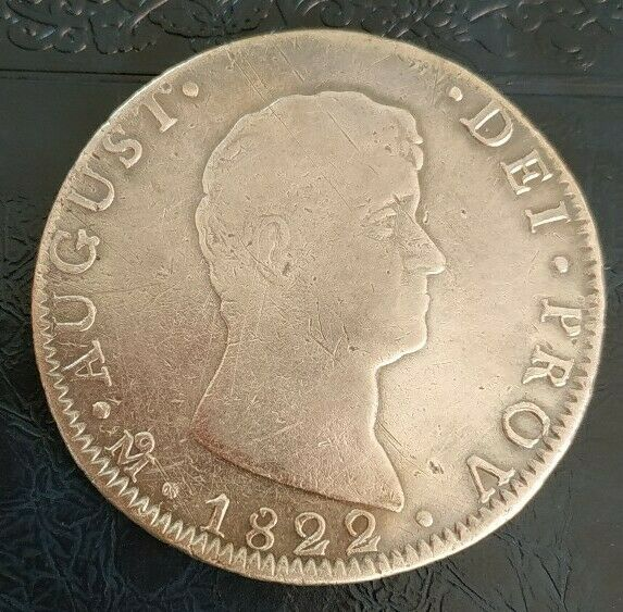 Mexico 1822 8 Reales Mo ITURBIDE Silver Mexican Coin Very Rare