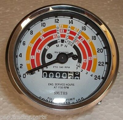 Clock Wise Fordson Super Major Tractor Tachometer - 80 Mm Fitment Size E1addn173