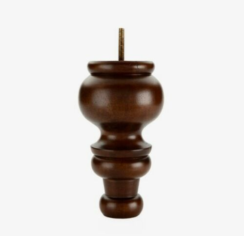 """7"""" Wood Round Tapered Furniture Feet - Set of 4"""